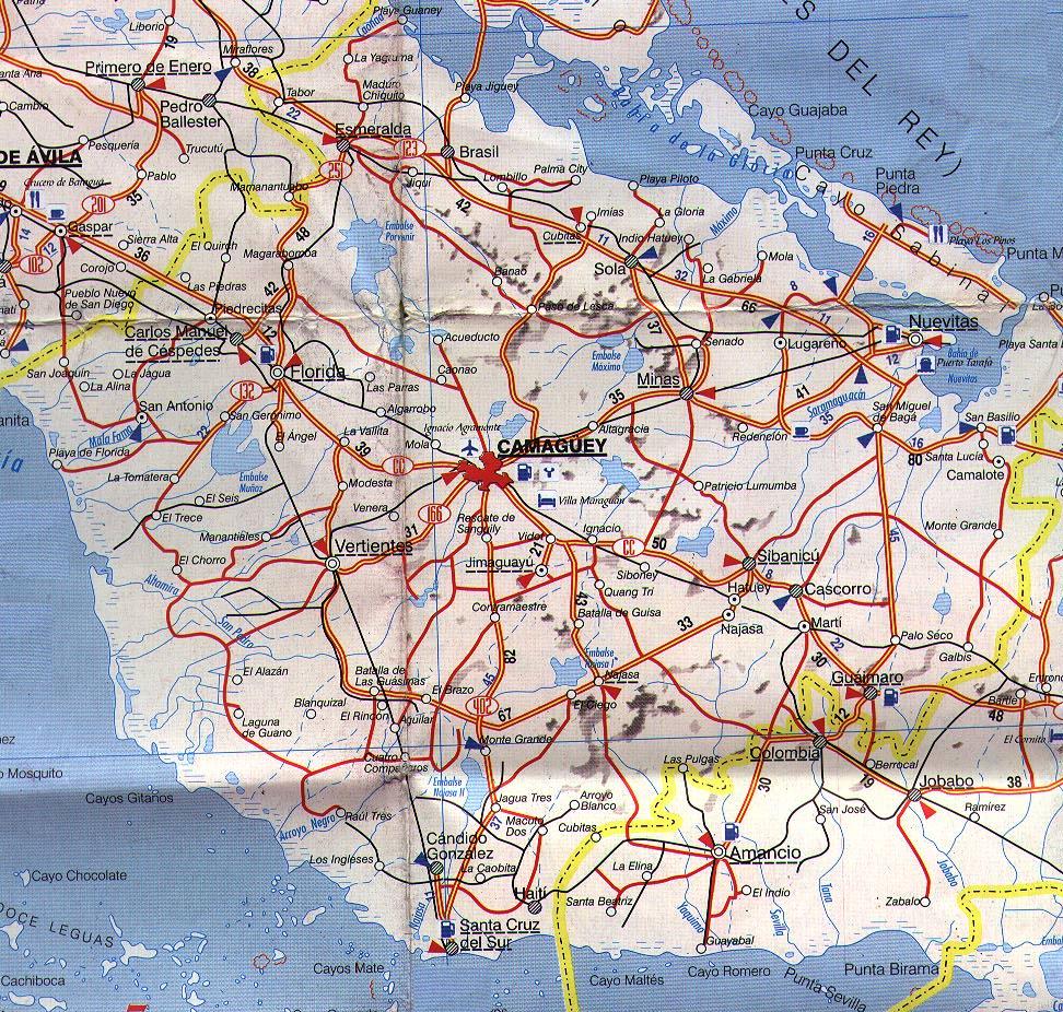 cuba mapa com Camaguey Province map