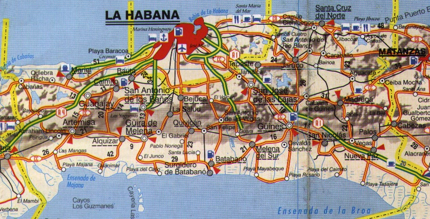 cuba mapa com La Havana Province map