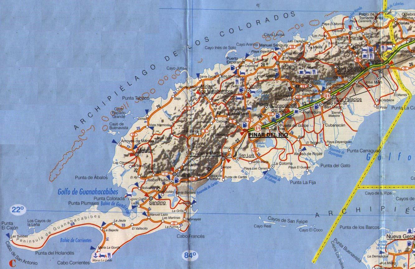 Pinar del Rio Province Map